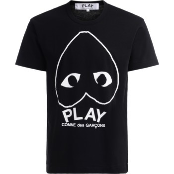 Clothing Men Short-sleeved t-shirts Comme Des Garcons T-Shirt in black cotton with large Black