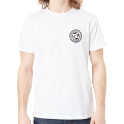 Clothing Men Short-sleeved t-shirts DC Shoes Snow White Circle Star FB T-Shirt White