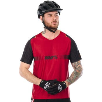 Clothing Men Short-sleeved t-shirts 100 Percent Cola 2017 Celium Solid Short Sleeved MTB Jersey Red