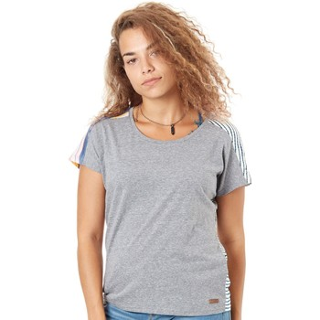 Clothing Women Short-sleeved t-shirts Protest Beet Red Swirl Womens T-Shirt Grey