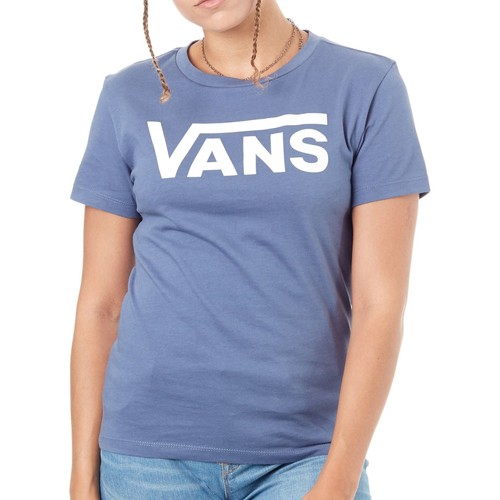 Clothing Women Short-sleeved t-shirts Vans Vintage Indigo Flying V Womens T-Shirt Blue