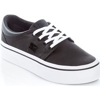 Shoes Women Low top trainers DC Shoes Black-White-Black Trase Platform TX SE Womens Low Top Shoe Black