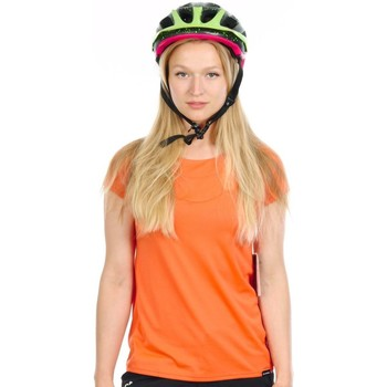 Clothing Women short-sleeved t-shirts Dakine Bright Coral 18W Faye Womens Short Sleeved MTB Jersey Orange