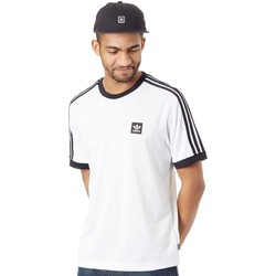 Clothing Men Short-sleeved t-shirts adidas Originals White-Black Club Jersey T-Shirt White