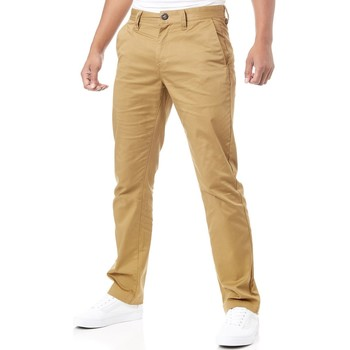 Clothing Men Chinos Volcom Dark Khaki Frickin Modern Stretch Pant Brown