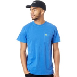 Clothing Men Short-sleeved t-shirts DC Shoes Nautical Blue Dyed Crew Pocket T-Shirt Blue