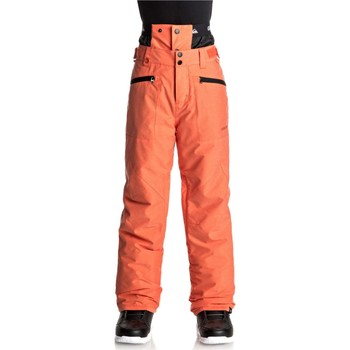 Clothing Boy Trousers Quiksilver Mandarin Red Boundry Kids Snowboarding Pants Red