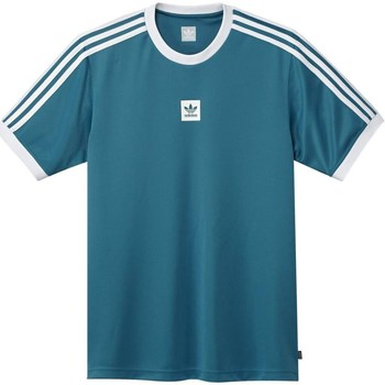 Clothing Men Short-sleeved t-shirts adidas Originals Active Teal-White Club Short Sleeved Jersey Blue
