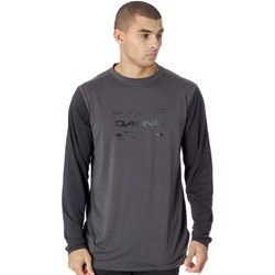 Clothing Men Long sleeved tee-shirts Dakine Shadow-Black Grant Crew Long Sleeved Baselayer Top Black