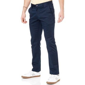 Clothing Men Trousers Volcom Dark Navy Frickin Modern Stretch Pant Blue
