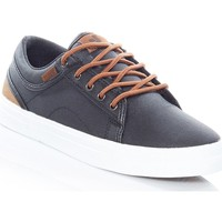 Shoes Men Low top trainers DVS Black Brown Canvas Aversa Shoe Black