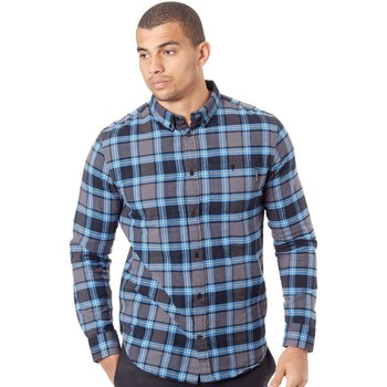 Clothing Men Long-sleeved shirts DC Shoes Marina Northboat Long Sleeved Shirt Blue