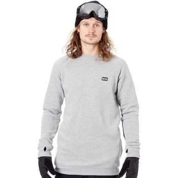 Clothing Men Fleeces Bro Grey Chill N Shred Crew Snowboarding Sweater Grey