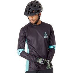 Clothing Men Long sleeved tee-shirts Unit Black Section Long Sleeved MTB Jersey Black