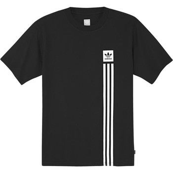 Clothing Men Short-sleeved t-shirts adidas Originals Black-White BB Pillar T-Shirt Black