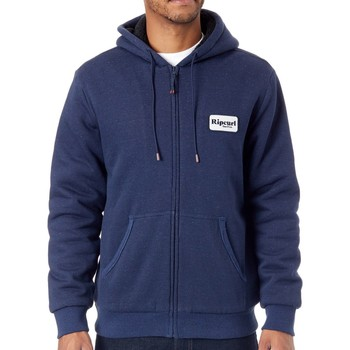 Clothing Men Sweaters Rip Curl Mood Indigo Heated - Sherpa Lined Zip Hoody Blue