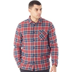 Clothing Men Long-sleeved shirts Etnies Red-Navy Axel Flannel Long Sleeved Shirt Red