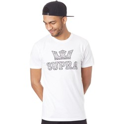 Clothing Men Short-sleeved t-shirts Supra White-Spot Above Regular T-Shirt White