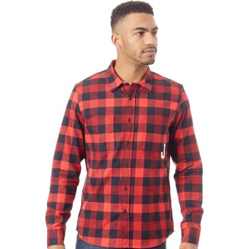 Clothing Men Long-sleeved shirts Oakley Red Line Icon Flanel Long Sleeved Shirt Red
