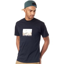 Clothing Men Short-sleeved t-shirts Vans Black Divided T-Shirt Black