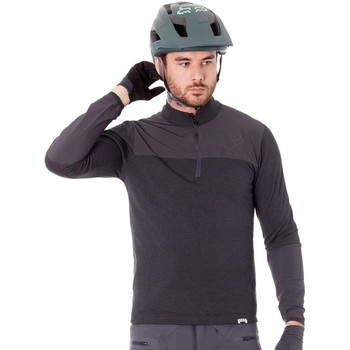 Clothing Men Long sleeved tee-shirts Fox Black 2017 Indicator Thermo Long Sleeved MTB Jersey Black