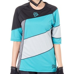 Clothing Women Short-sleeved t-shirts Race Face Turquoise-Black Khyber Womens ¾ Sleeved MTB Jersey Blue
