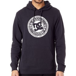 Clothing Men Sweaters DC Shoes Black Circle Star Hoody Black