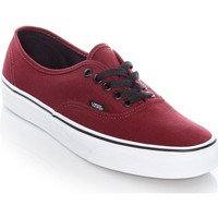 Shoes Men Low top trainers Vans Port Royale-Black Authentic Shoe Red