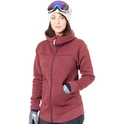 Clothing Women Fleeces Burton Port Royal Heather Minxy Womens Snowboarding Zip Hoody Purple