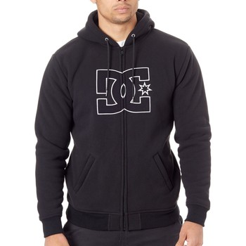 Clothing Men Sweaters DC Shoes Black New Star - Sherpa Lined Zip Hoody Black