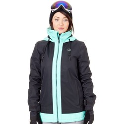 Clothing Women Macs Volcom Black Westland Insulated Womens Snowboarding Jacket Black