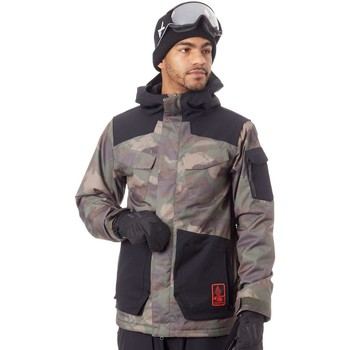 Clothing Men Macs Volcom Camouflage VCO Inferno Insulation Snowboarding Jacket Black