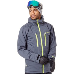 Clothing Men Jackets Protest Asphalt Clavin Snowboarding Jacket Grey