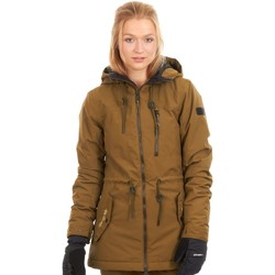 Clothing Women Parkas O'neill Dark Olive Eyeline Hybrid Womens Snowboarding Jacket Black