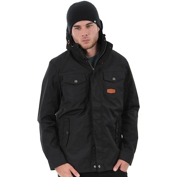 Clothing Men Parkas Jesse James Black Industry Summer Parka Jacket Black