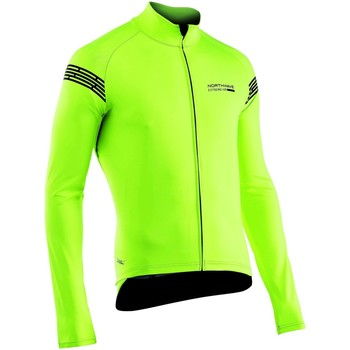Clothing Men Jackets Northwave Yellow Fluorescent Extreme H20 Light MTB Jacket Yellow