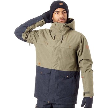 Clothing Men Parkas Quiksilver Grape Leaf Horizon Snowboarding Jacket Green