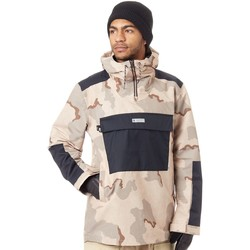 Clothing Men Jackets DC Shoes Incense Dcu Camo Rampart Snowboarding Jacket Beige