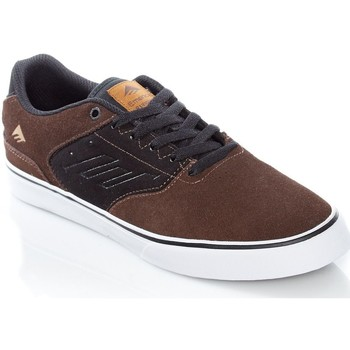 Shoes Men Low top trainers Emerica Brown-Black The Reynolds Low Vulc Shoe Brown