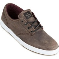 Shoes Men Low top trainers Emerica Brown-Grey-White The Romero Laced Shoe Brown