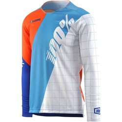 Clothing Boy Long sleeved tee-shirts 100 Percent White R-Core DH Kids Long Sleeved MTB Jersey Blue