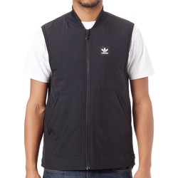 Clothing Men Jackets / Cardigans adidas Originals Black-White Meade Body Warmer Black