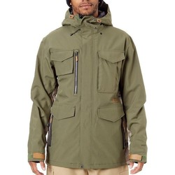 Clothing Men Jackets Sessions Green-Camo Ransack Insulated Snowboarding Jacket Green