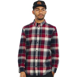 Clothing Men Long-sleeved shirts DC Shoes Rio Red South Ferry Long Sleeved Shirt Red