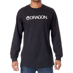 Clothing Men Long sleeved tee-shirts Dragon Black Trademark Staple Long Sleeved T-Shirt Black