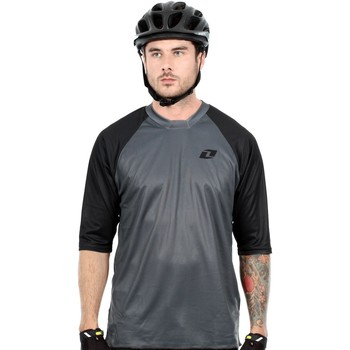 Clothing Men Long sleeved tee-shirts One Industries Grey Atom MTB Jersey ¾ Sleeved Grey