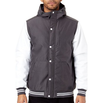 Clothing Men Jackets Vans Asphalt-White Fieldbrook MTE Water Resistant Jacket Grey