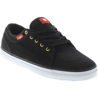 Shoes Men Low top trainers DVS Black Red Canvas Aversa Shoe Black
