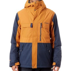 Clothing Men Jackets O'neill Glazed Ginger Hybrid Utility Snowboarding Jacket Brown