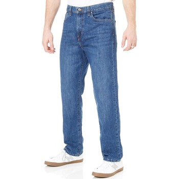 Clothing Men Straight jeans Fox Medium Stonewash Garage Relaxed Jeans Blue